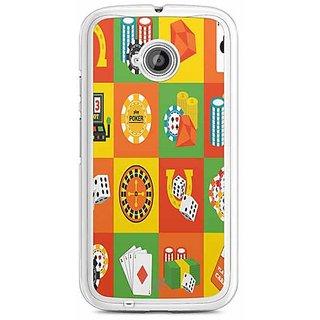 YuBingo Poker Designer Mobile Case Back Cover for Motorola E2