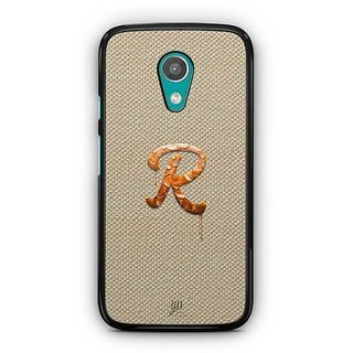 YuBingo Monogram with Beautifully Written Paint Finish letter R Designer Mobile Case Back Cover for Motorola G2