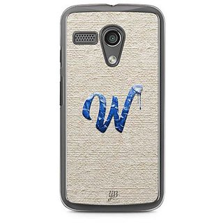 YuBingo Monogram with Beautifully Written Paint Finish letter W Designer Mobile Case Back Cover for Motorola G