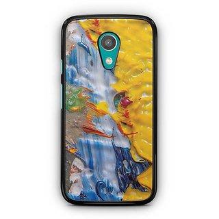 YuBingo Funky Oil Paint Designer Mobile Case Back Cover for Motorola G2