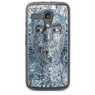 YuBingo Man covered with Aluminium Foil Designer Mobile Case Back Cover for Motorola G