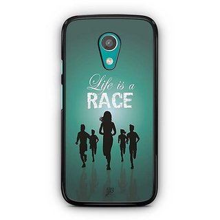 YuBingo Life is a Race Designer Mobile Case Back Cover for Motorola G2