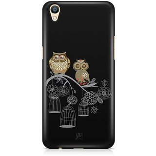 YuBingo Two Owls on a Tree Branch Designer Mobile Case Back Cover for Oppo F1 Plus / R9