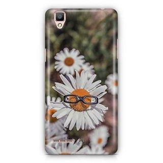 YuBingo Sunflower wearing glasses Designer Mobile Case Back Cover for Oppo F1 / A35