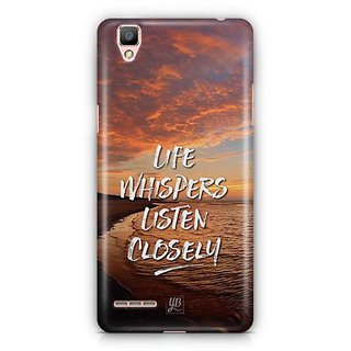 YuBingo Life Whispers. Listen Carefully Designer Mobile Case Back Cover for Oppo F1 / A35