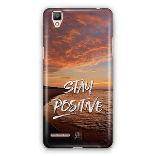 YuBingo Stay Positive Designer Mobile Case Back Cover for Oppo F1 / A35