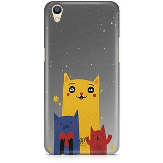 YuBingo Family of Cats Designer Mobile Case Back Cover for Oppo F1 Plus / R9