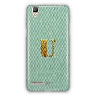 YuBingo Monogram with Beautifully Written Paint Finish letter U Designer Mobile Case Back Cover for Oppo F1 / A35