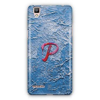 YuBingo Monogram with Beautifully Written Funky Colourful Paint Finish letter P Designer Mobile Case Back Cover for Oppo F1 / A35