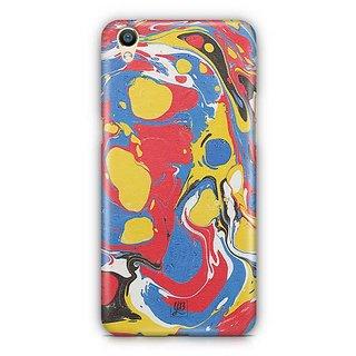YuBingo Red Blue Marble Finish (Plastic) Designer Mobile Case Back Cover for Oppo F1 Plus / R9