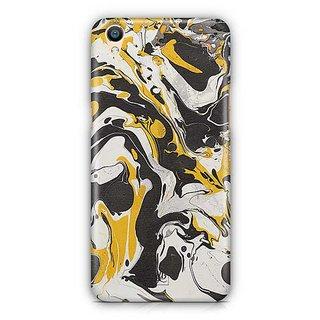 YuBingo Black Yellow Marble Finish (Plastic) Designer Mobile Case Back Cover for Oppo F1 Plus / R9