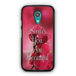 YuBingo Smile. You are Beautiful Designer Mobile Case Back Cover for Motorola G2
