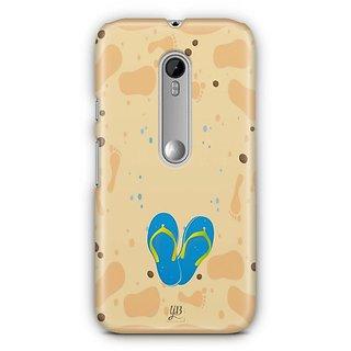 YuBingo Slippers on Beach Designer Mobile Case Back Cover for Motorola G3 / G3 Turbo