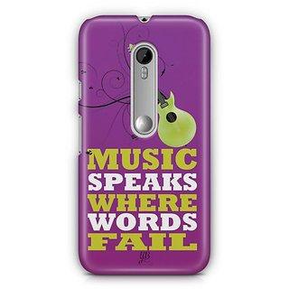 YuBingo Music Speaks Where Words Fail Designer Mobile Case Back Cover for Motorola G3 / G3 Turbo