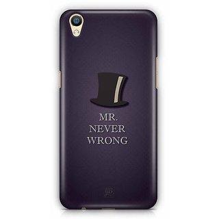 YuBingo Mr. Never Wrong Designer Mobile Case Back Cover for Oppo F1 Plus / R9