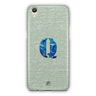 YuBingo Monogram with Beautifully Written Paint Finish letter Q Designer Mobile Case Back Cover for Oppo F1 Plus / R9