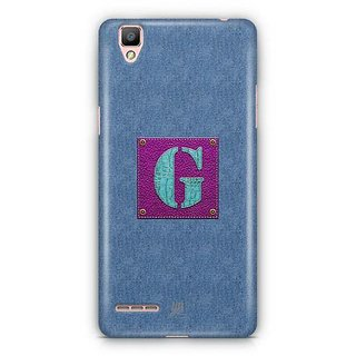 YuBingo Monogram with Beautifully Written Jeans and Girly Leather Finish letter G Designer Mobile Case Back Cover for Oppo F1 / A35