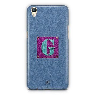 YuBingo Monogram with Beautifully Written Jeans and Girly Leather Finish letter G Designer Mobile Case Back Cover for Oppo F1 Plus / R9