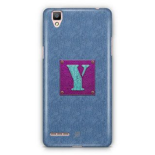 YuBingo Monogram with Beautifully Written Jeans and Girly Leather Finish letter Y Designer Mobile Case Back Cover for Oppo F1 / A35