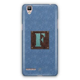 YuBingo Monogram with Beautifully Written Jeans and Macho Male Leather Finish letter F Designer Mobile Case Back Cover for Oppo F1 / A35