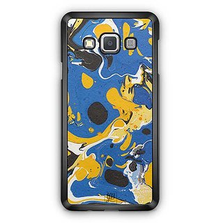 YuBingo Blue Yellow Marble Finish (Plastic) Designer Mobile Case Back Cover for Samsung Galaxy A3