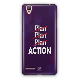 YuBingo Don't just plan. Action it. Designer Mobile Case Back Cover for Oppo F1 / A35