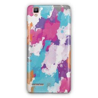 YuBingo Colourful Canvas Designer Mobile Case Back Cover for Oppo F1 / A35