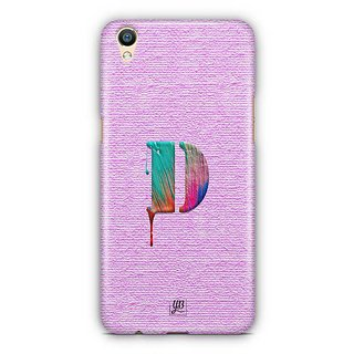 YuBingo Monogram with Beautifully Written Paint Finish letter D Designer Mobile Case Back Cover for Oppo F1 Plus / R9