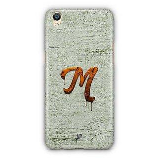 YuBingo Monogram with Beautifully Written Paint Finish letter M Designer Mobile Case Back Cover for Oppo F1 Plus / R9