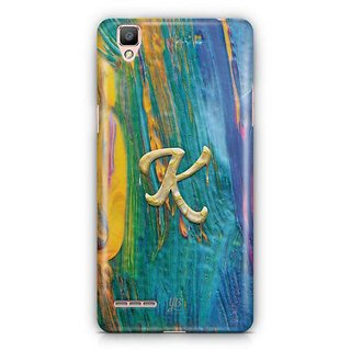YuBingo Monogram with Beautifully Written Funky Colourful Paint Finish letter K Designer Mobile Case Back Cover for Oppo F1 / A35