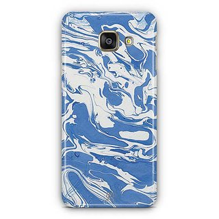 YuBingo Blue White Marble Finish (Plastic) Designer Mobile Case Back Cover for Samsung Galaxy A3 2016
