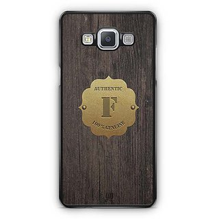 YuBingo Monogram with Beautifully Written Wooden and Metal (Plastic) Finish letter F Designer Mobile Case Back Cover for Samsung Galaxy A5