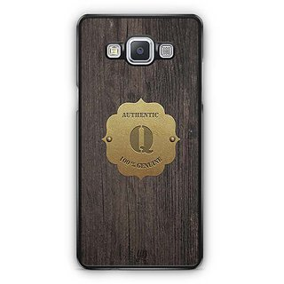 YuBingo Monogram with Beautifully Written Wooden and Metal (Plastic) Finish letter Q Designer Mobile Case Back Cover for Samsung Galaxy A5