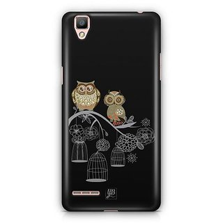 YuBingo Two Owls on a Tree Branch Designer Mobile Case Back Cover for Oppo F1 / A35