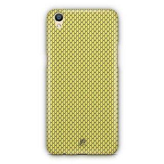 YuBingo Yellow hexagon pattern Designer Mobile Case Back Cover for Oppo F1 Plus / R9