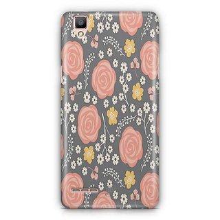 YuBingo Orange flower and leaf pattern Designer Mobile Case Back Cover for Oppo F1 / A35