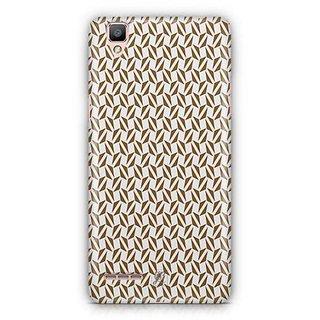 YuBingo Brown triangle pattern Designer Mobile Case Back Cover for Oppo F1 / A35