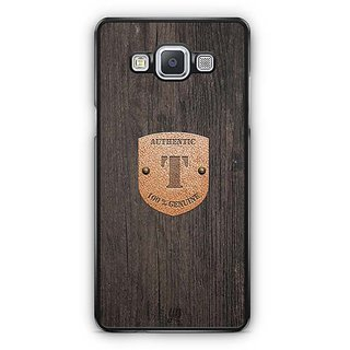 YuBingo Monogram with Beautifully Written Wooden and Metal (Plastic) Finish letter T Designer Mobile Case Back Cover for Samsung Galaxy A5