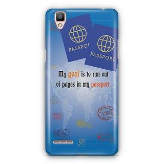 YuBingo Travel the World Designer Mobile Case Back Cover for Oppo F1 / A35