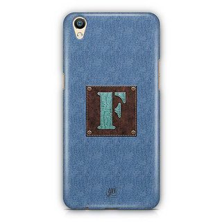 YuBingo Monogram with Beautifully Written Jeans and Macho Male Leather Finish letter F Designer Mobile Case Back Cover for Oppo F1 Plus / R9