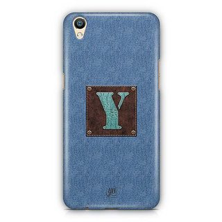 YuBingo Monogram with Beautifully Written Jeans and Macho Male Leather Finish letter Y Designer Mobile Case Back Cover for Oppo F1 Plus / R9