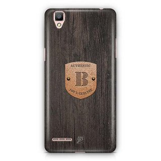 YuBingo Monogram with Beautifully Written Wooden and Metal (Plastic) Finish letter B Designer Mobile Case Back Cover for Oppo F1 / A35