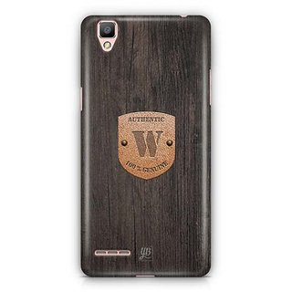 YuBingo Monogram with Beautifully Written Wooden and Metal (Plastic) Finish letter W Designer Mobile Case Back Cover for Oppo F1 / A35