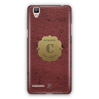 YuBingo Monogram with Beautifully Written Wooden and Metal (Plastic) Finish letter C Designer Mobile Case Back Cover for Oppo F1 / A35