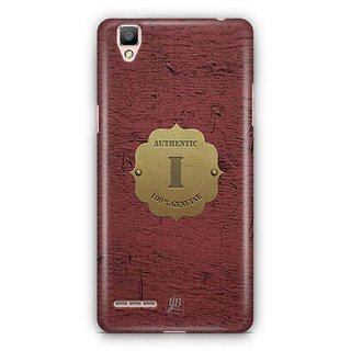 YuBingo Monogram with Beautifully Written Wooden and Metal (Plastic) Finish letter I Designer Mobile Case Back Cover for Oppo F1 / A35
