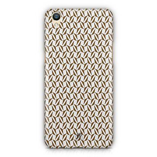 YuBingo Brown triangle pattern Designer Mobile Case Back Cover for Oppo F1 Plus / R9
