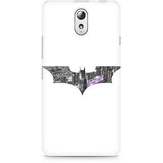 CopyCatz Bat Logo Arkham City Premium Printed Case For Lenovo Vibe P1M