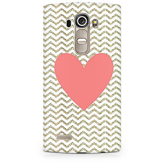 CopyCatz Chevron Heart Premium Printed Case For LG G4