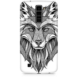 CopyCatz Line Art Wolf Premium Printed Case For LG K7