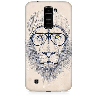 CopyCatz Lion with Glasses Premium Printed Case For LG K7